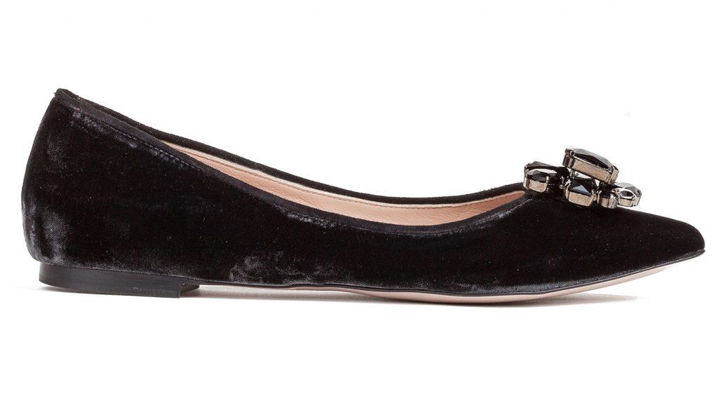 zapatos planos de terciopelo negro pura lopez