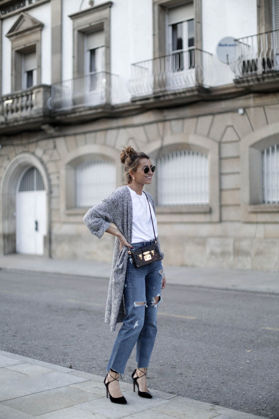 look wasted jeans con zapatos de salon pura lopez