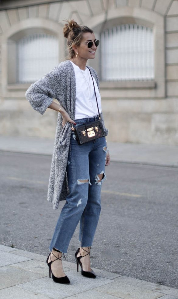 look wasted jeans con zapatos de salon pura lopez