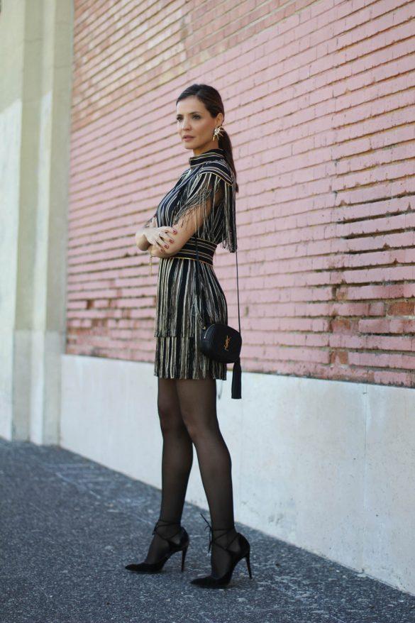 Zapatos altos con lazada en terciopelo negro