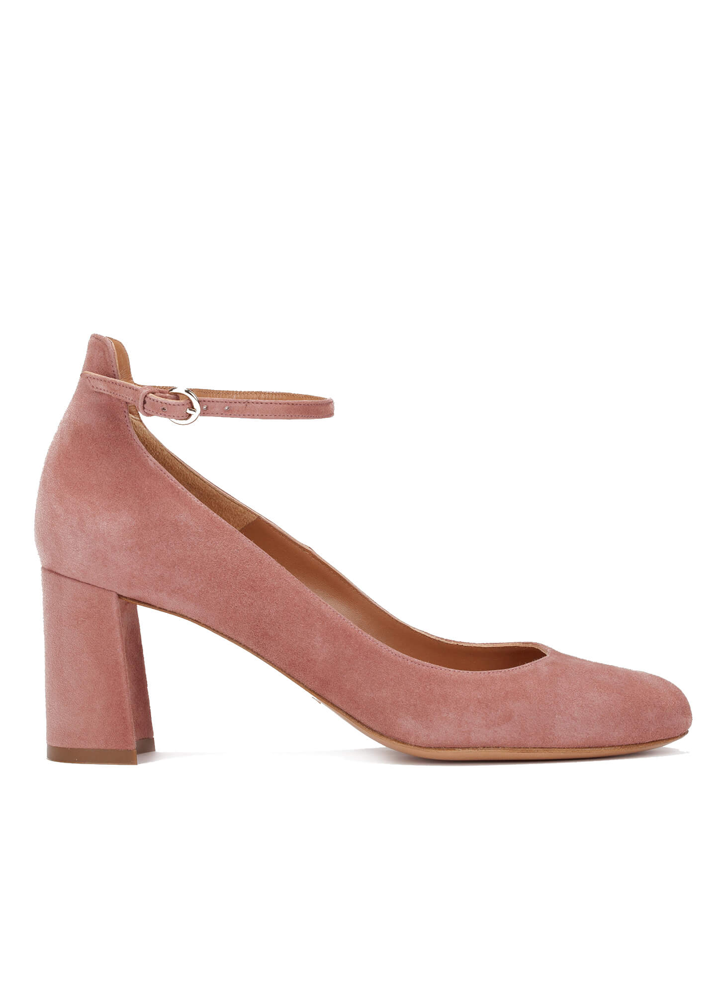 bc6d5074636b Mid heel shoes in pink suede - online shoe store Pura Lopez . PURA LOPEZ
