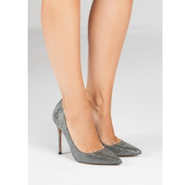 Zapatos de tacón metalizados Pura López
