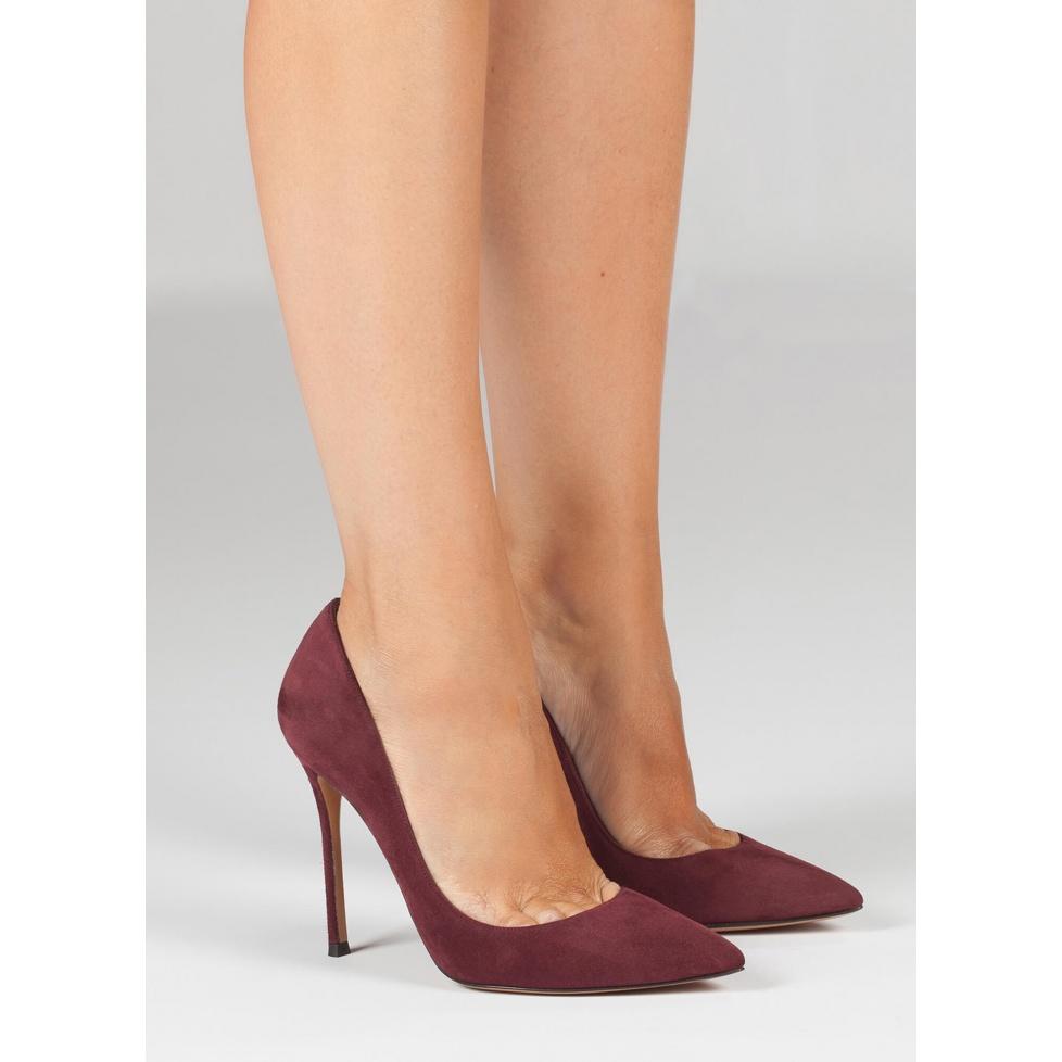 Aubergine heeled pumps - online shoe store Pura Lopez