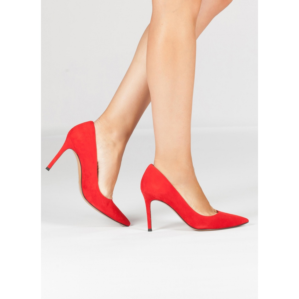 Red high heel pumps - online shoe store Pura Lopez