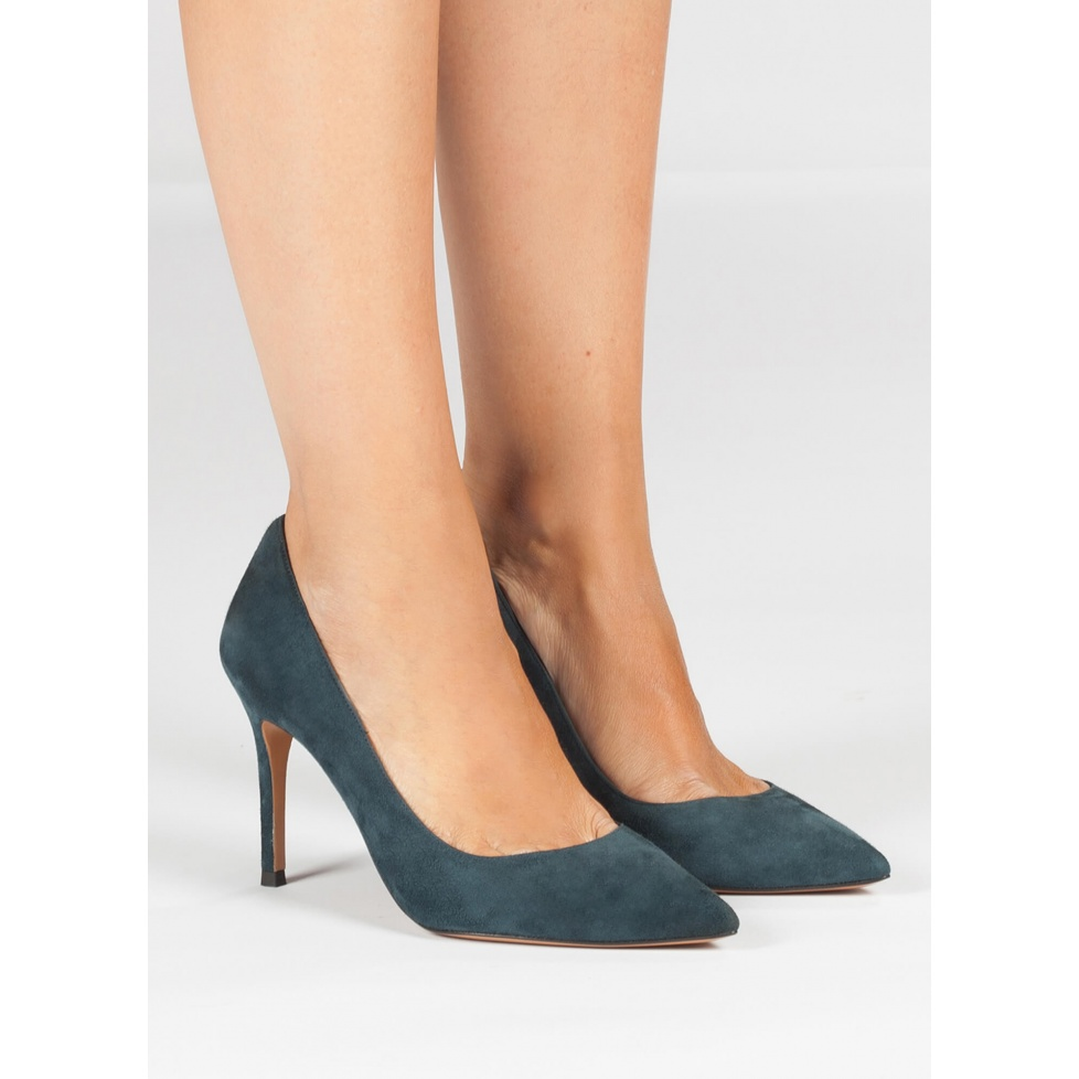 Blue high heel pumps - online shoe store Pura Lopez