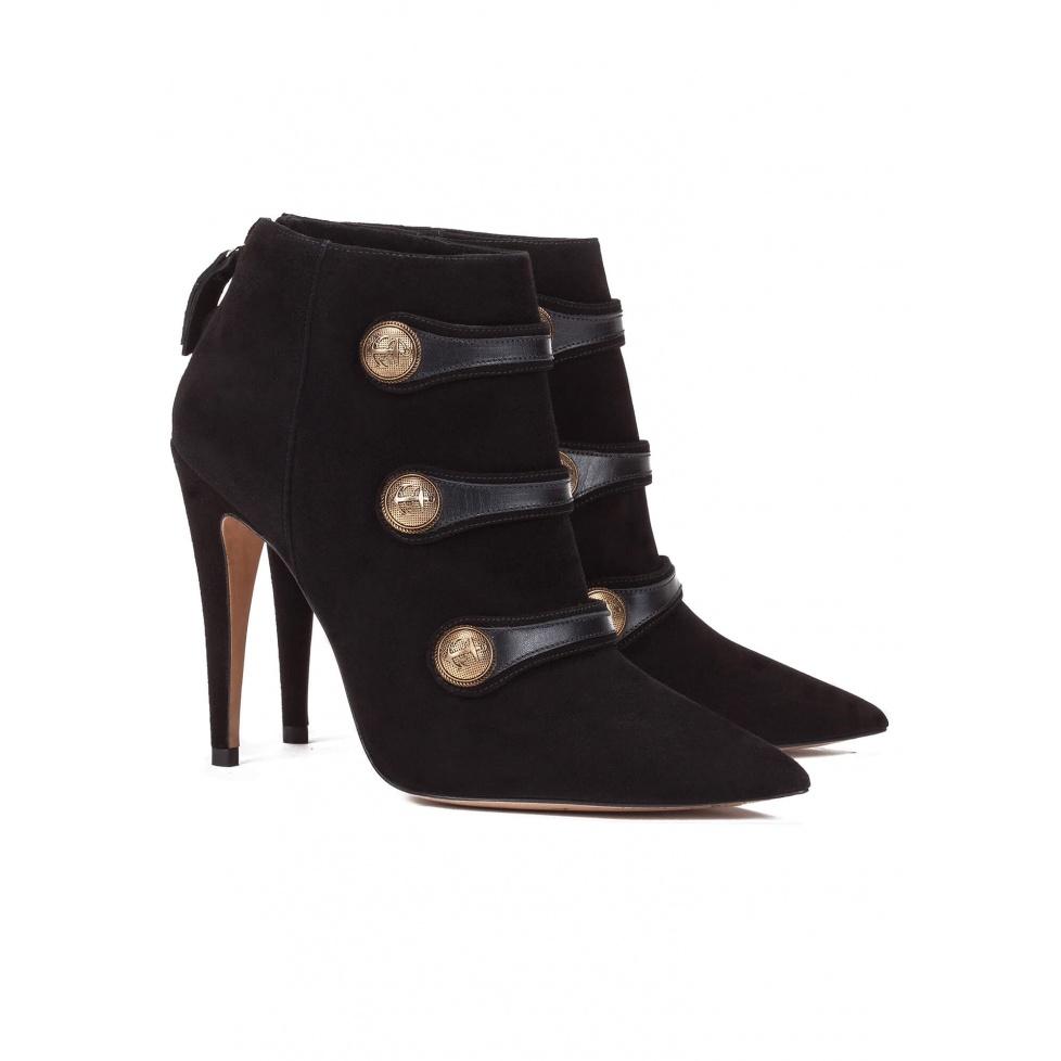 Botines negros de tacón alto - tienda de zapatos Pura López