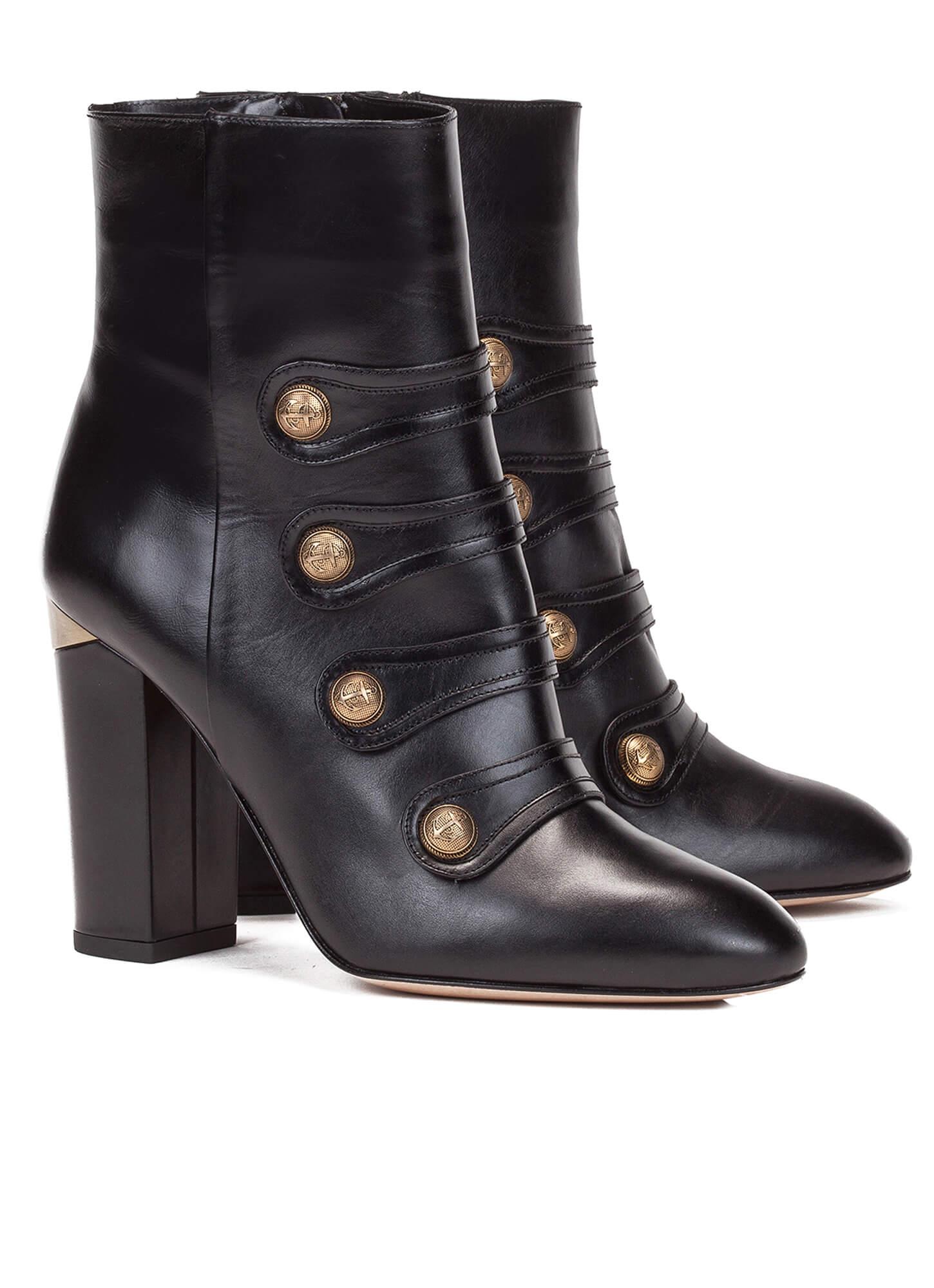 black high block heel ankle boots shoe store pura