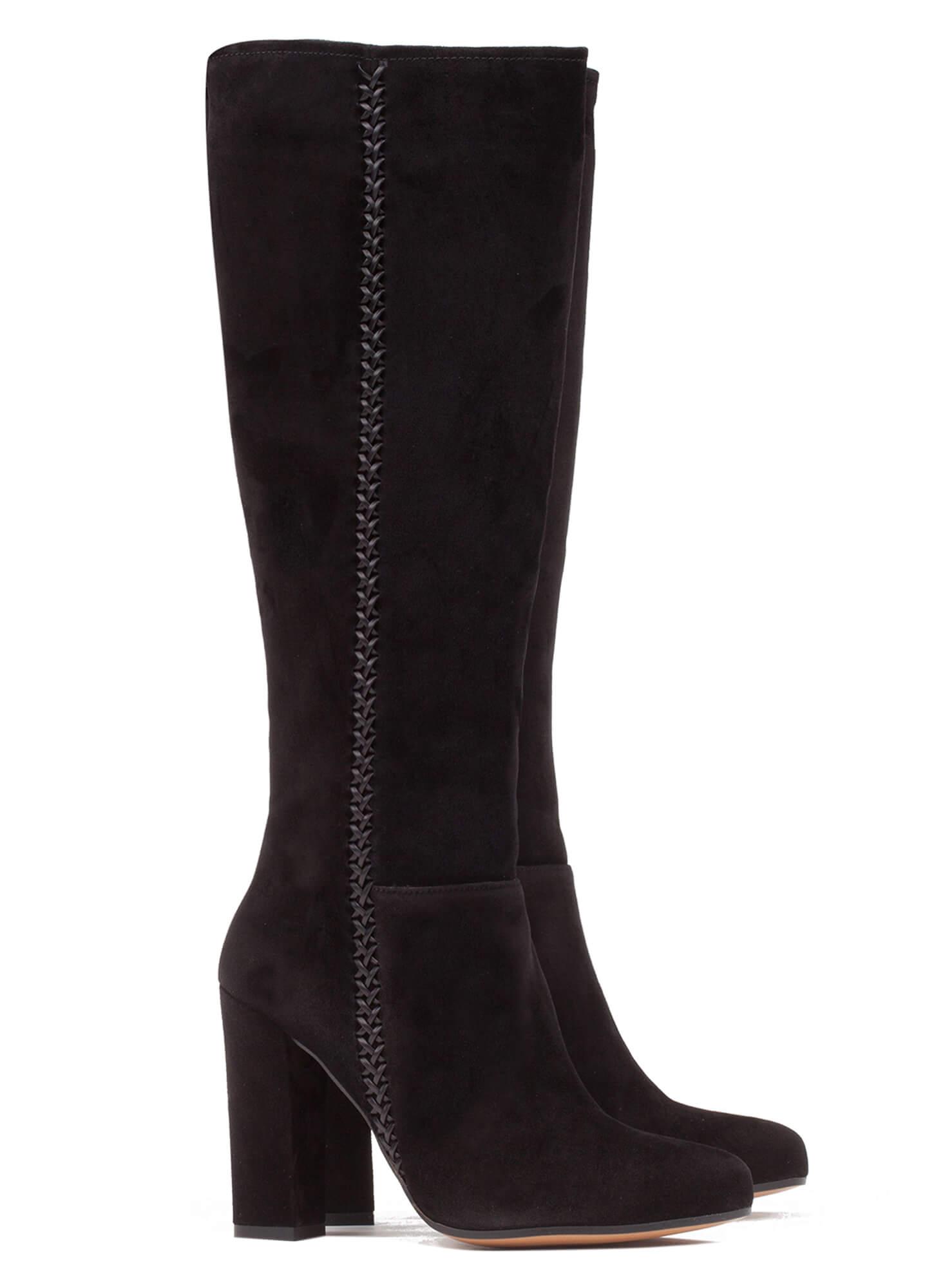 Black high heel boots - online shoe store Pura Lopez . PURA LOPEZ