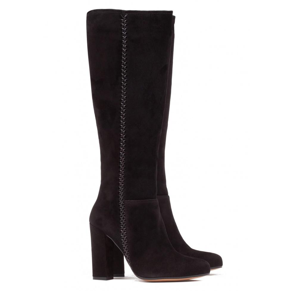 Botas negras de tacón - tienda de zapatos Pura López