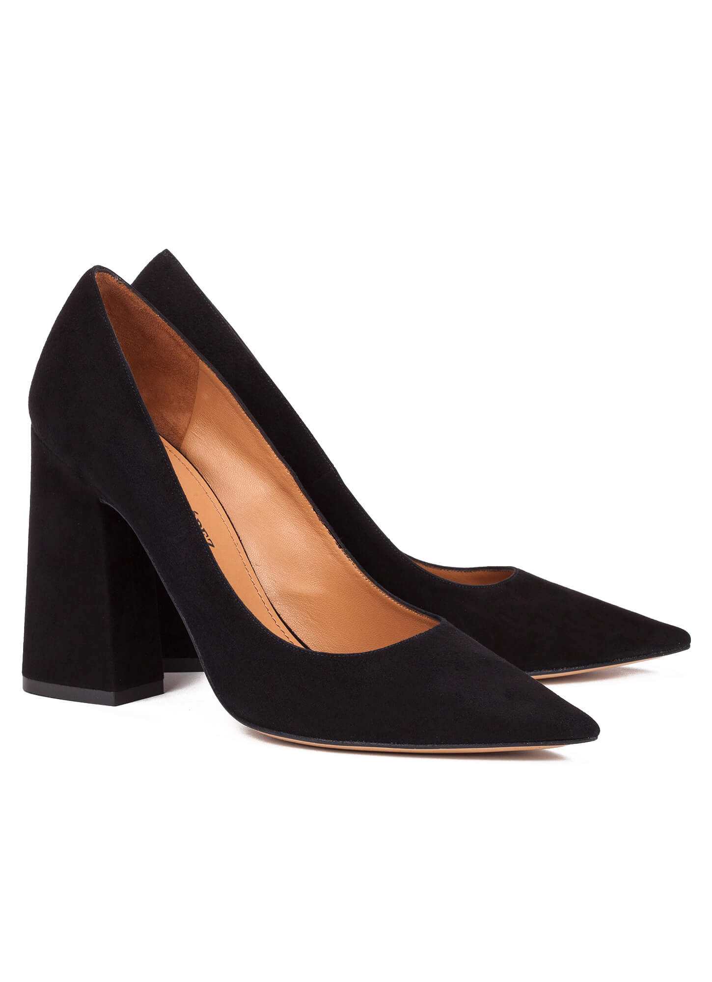 b2b02d6e257d High block heel pumps in black suede - online shoe store Pura Lopez ...