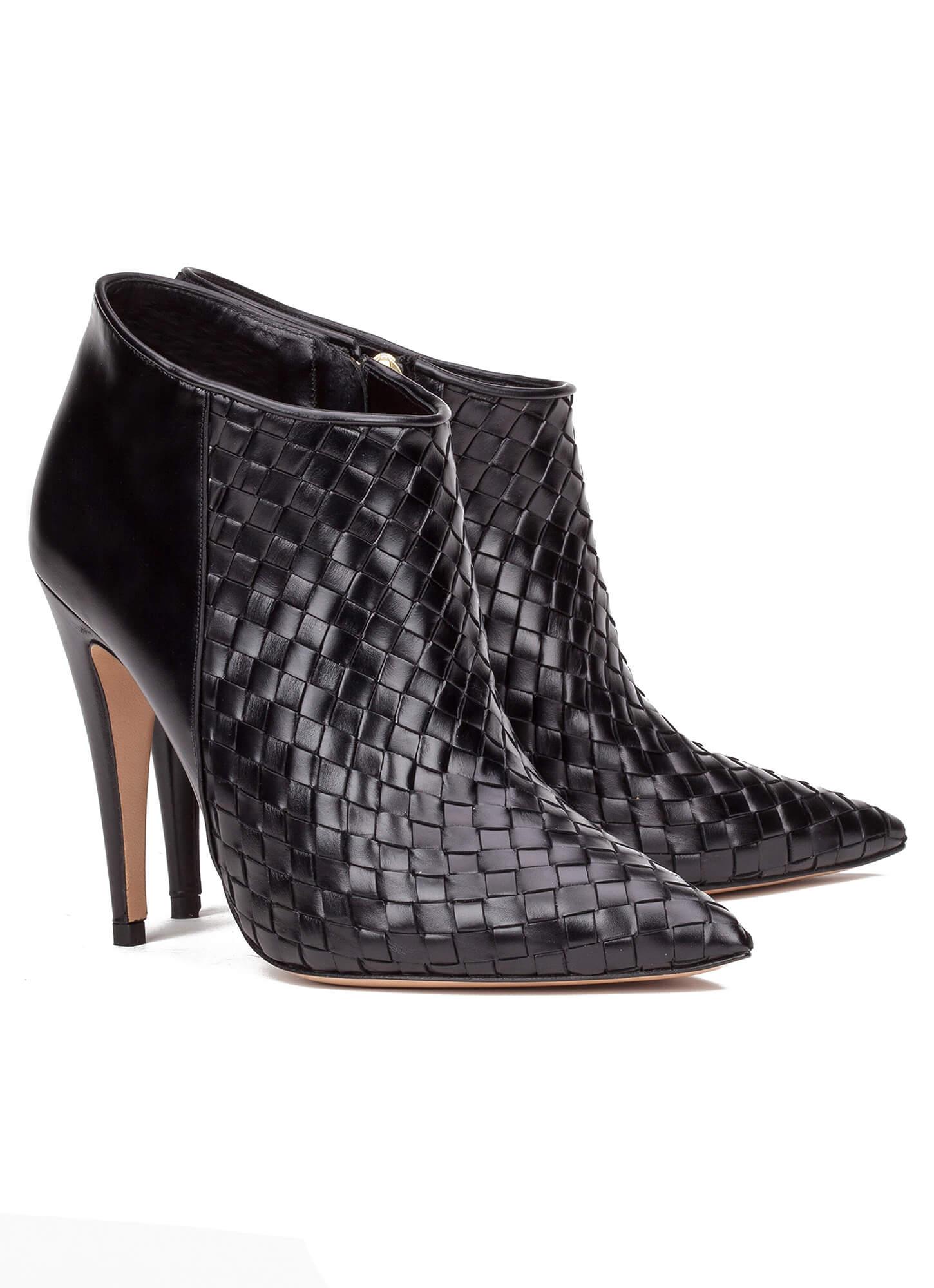 Pura de tacón negros Botines zapatos de en alto tienda López piel UzxFwgqF