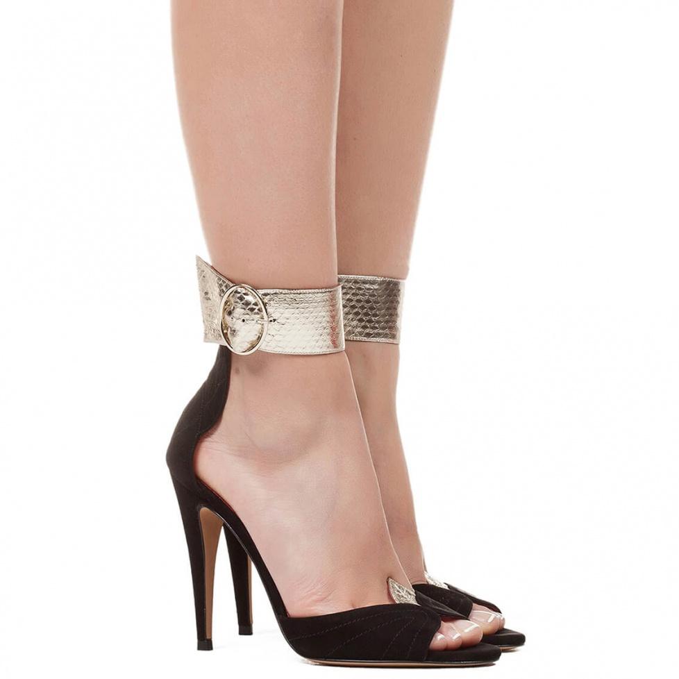 Sandalias de tacón alto con pulsera - tienda de zapatos Pura López