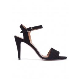 Sandalias negras de tacón alto Pura López
