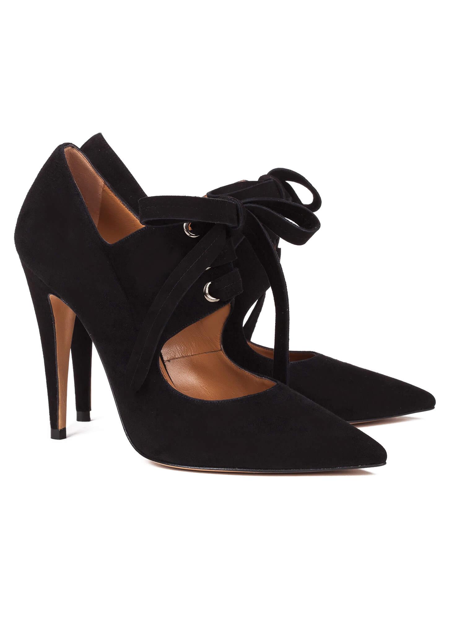 a95d55020791 Black lace-up high heel shoes - online shoe store Pura Lopez . PURA ...