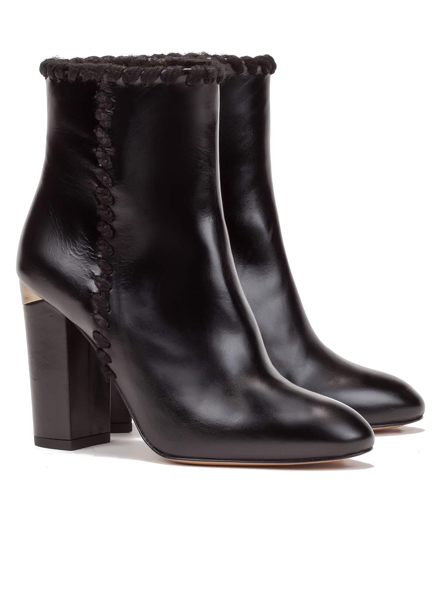 9075e18ddb25 Black high block heel ankle boots - online shoe store Pura Lopez ...