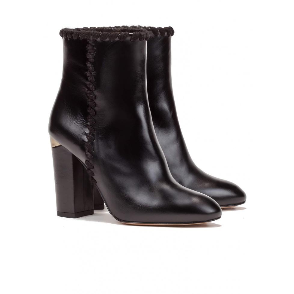 Black high block heel ankle boots - online shoe store Pura Lopez