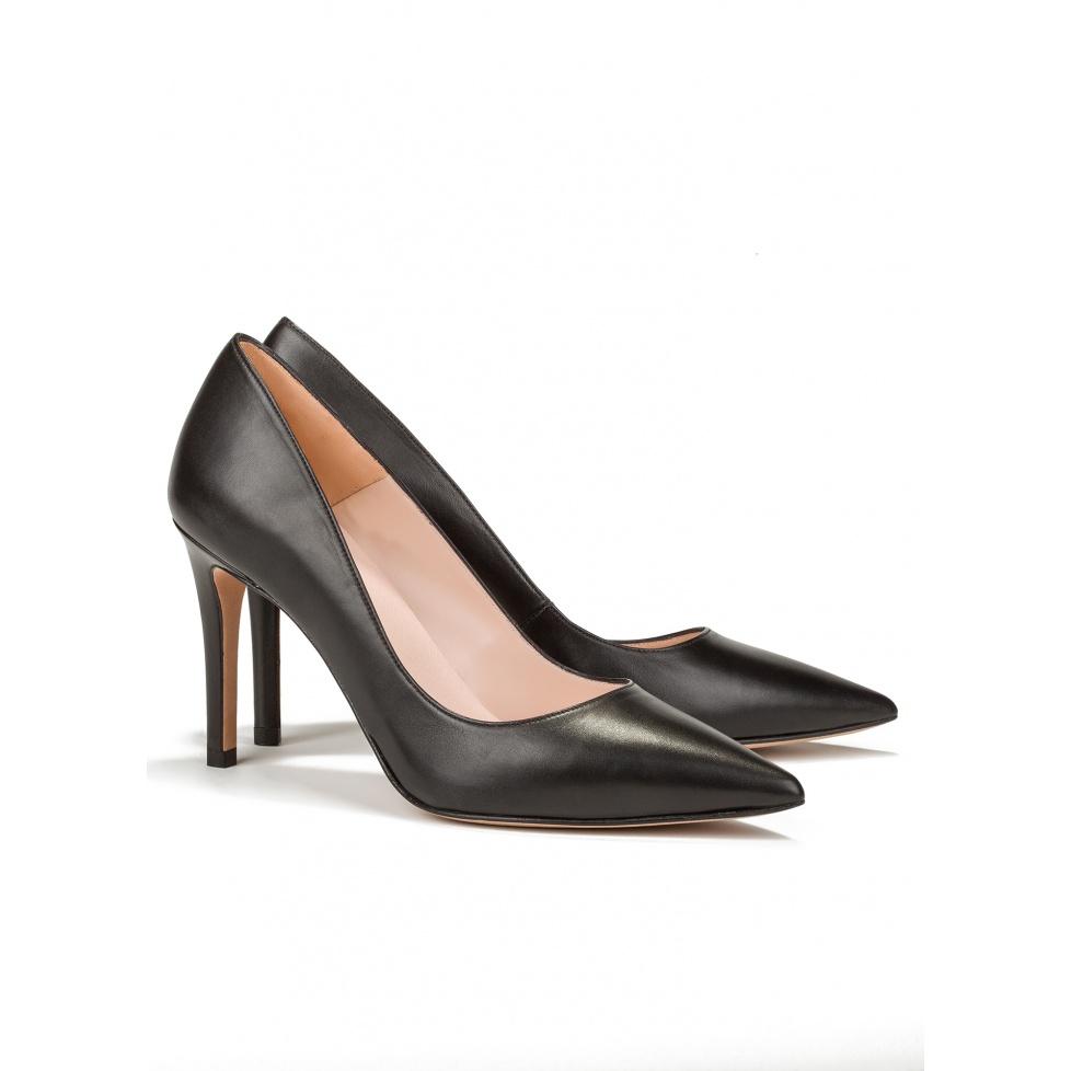 Zapato de salón negro de tacón alto - tienda de zapatos Pura López