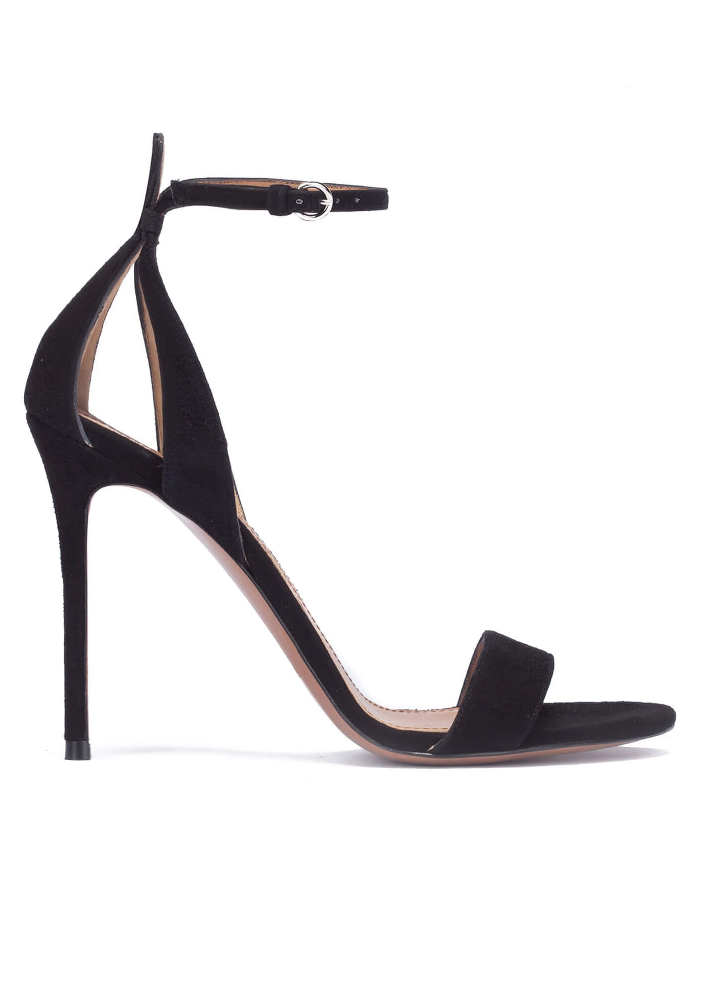 ceec9dba18 Black suede sandals with ankle strap · High heel sandals in black suede -  online shoe store Pura Lopez
