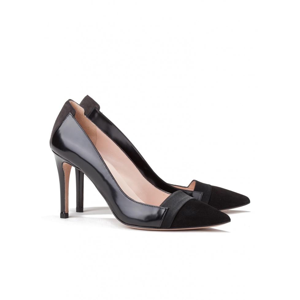 High heel pumps in black suede - online shoe store Pura Lopez