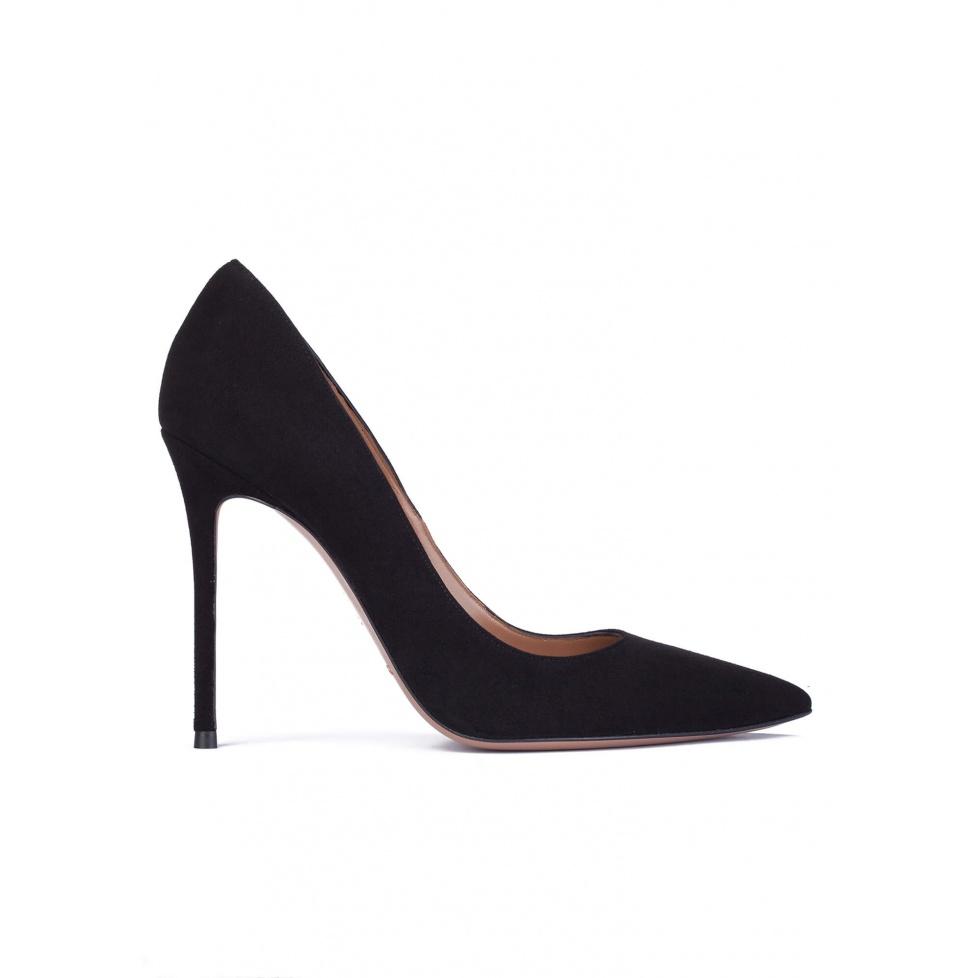 Zapatos de salón con tacón alto en ante negro