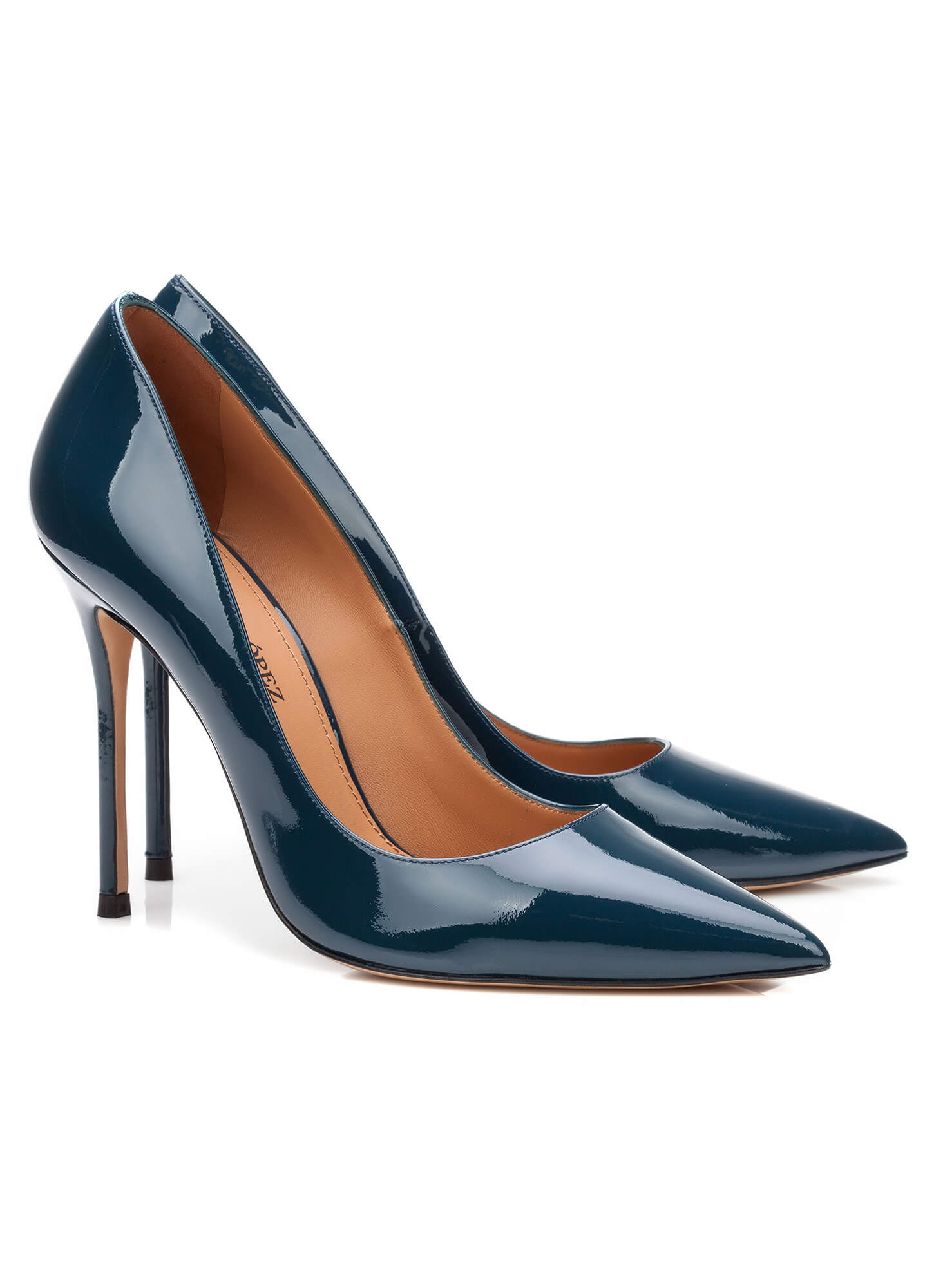 high heel pumps in blue patent online shoe store pura. Black Bedroom Furniture Sets. Home Design Ideas
