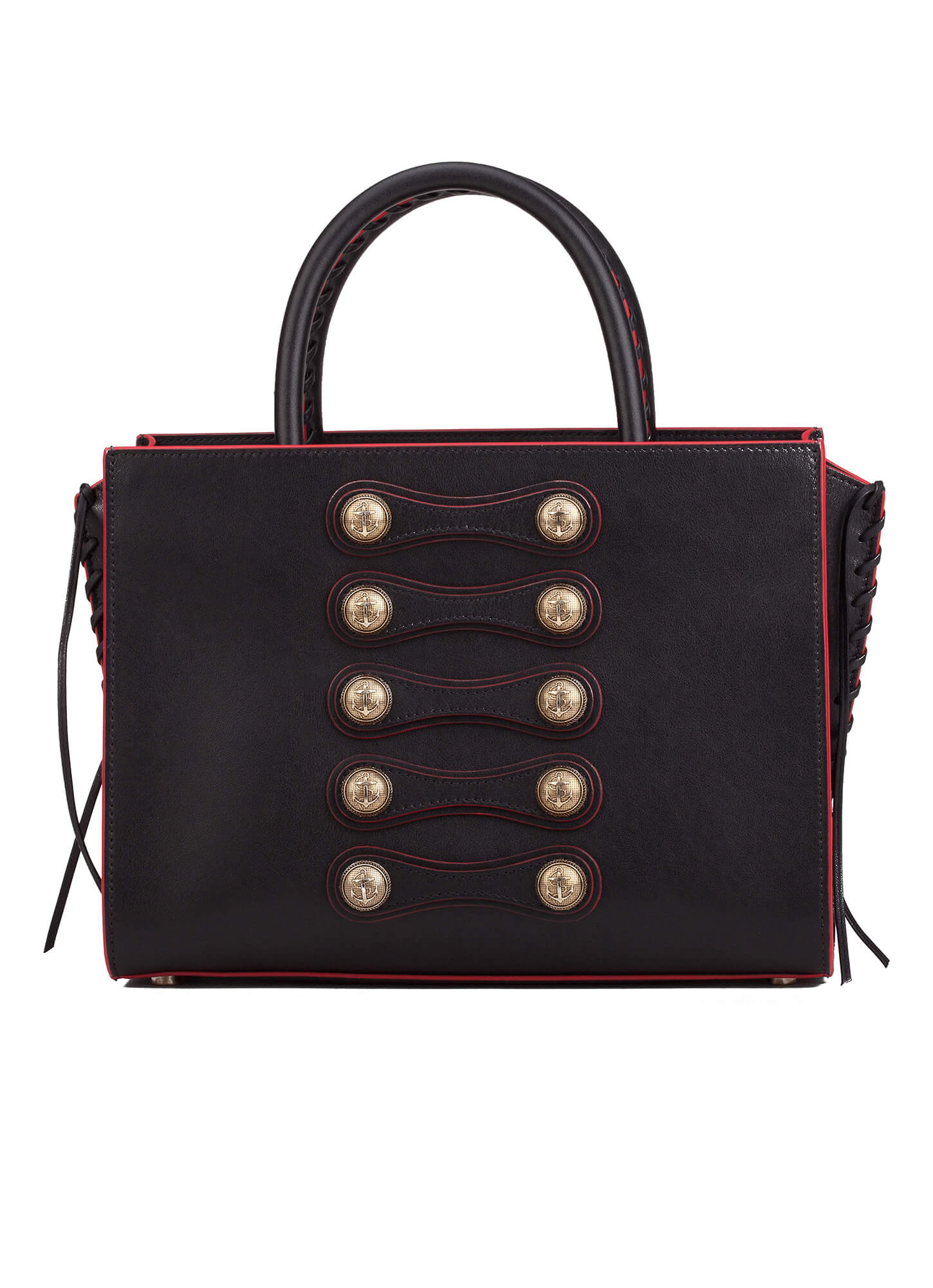 On Detailed Bag In Black Leather