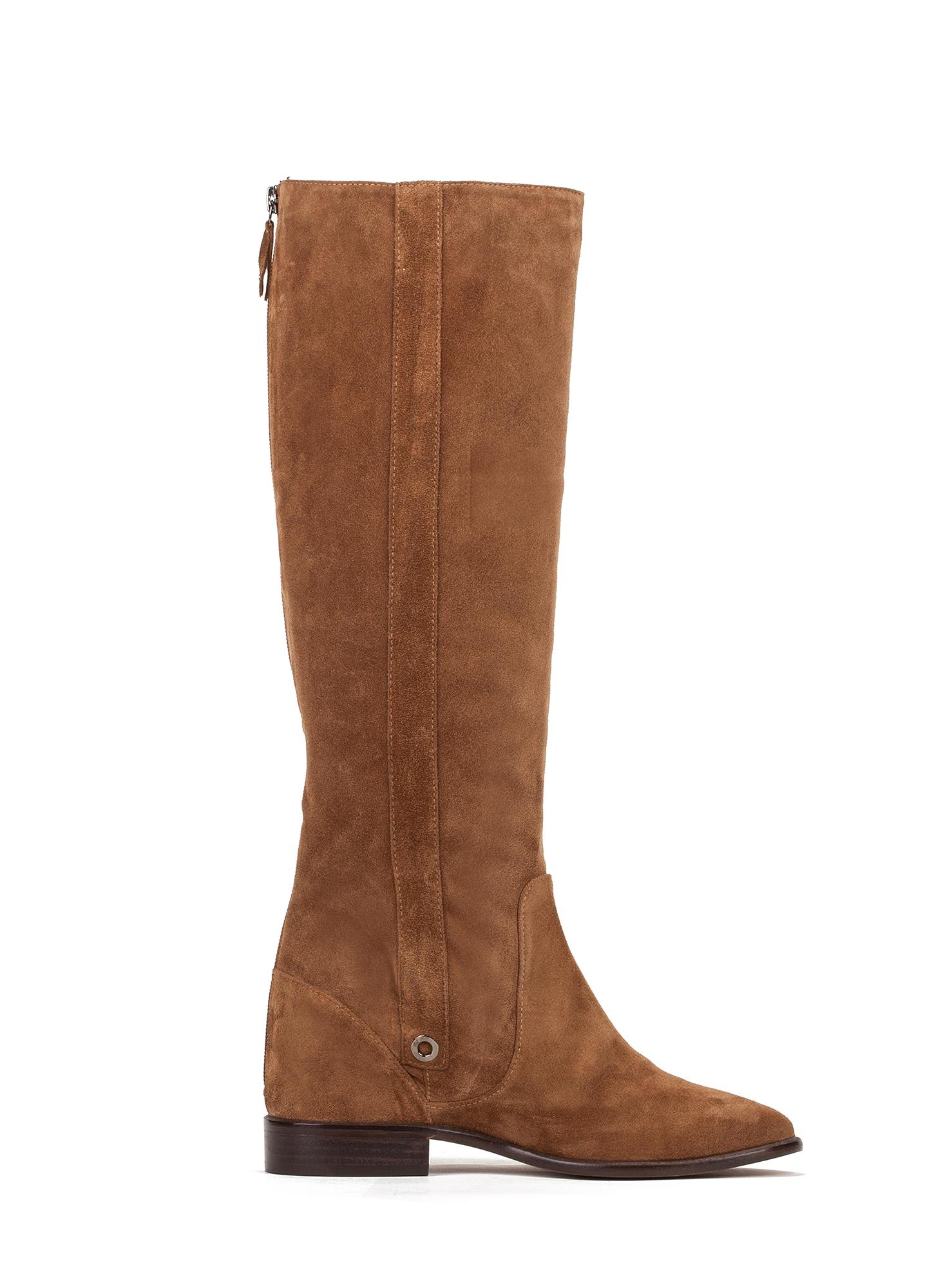 Botas camel con cu a interior tienda de zapatos mujer for Botines con cuna interior