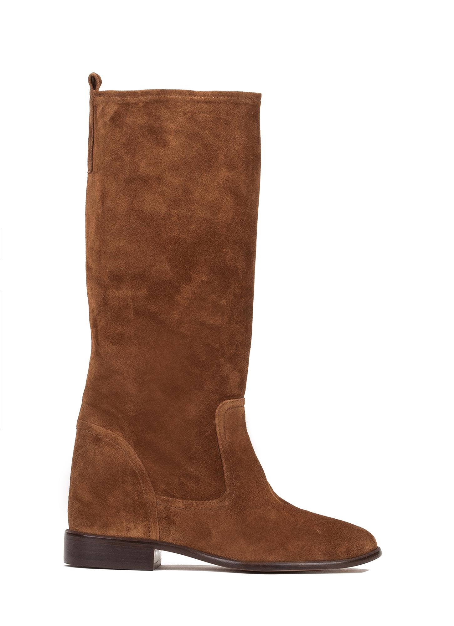 Botas marrones con cu a interior tienda de zapatos mujer for Botines con cuna interior