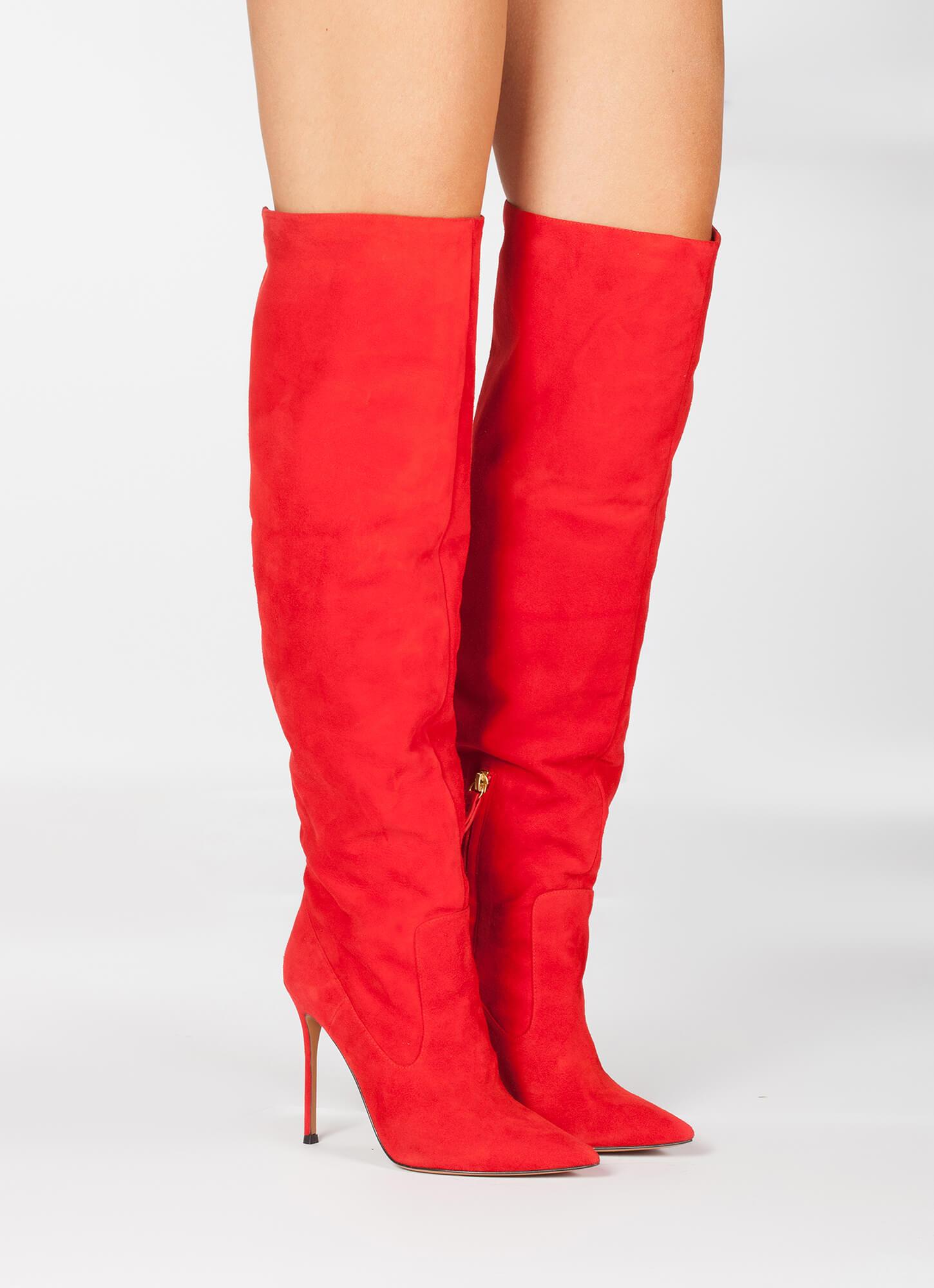look botas rojo botas de tacón look VqSMpLUGz