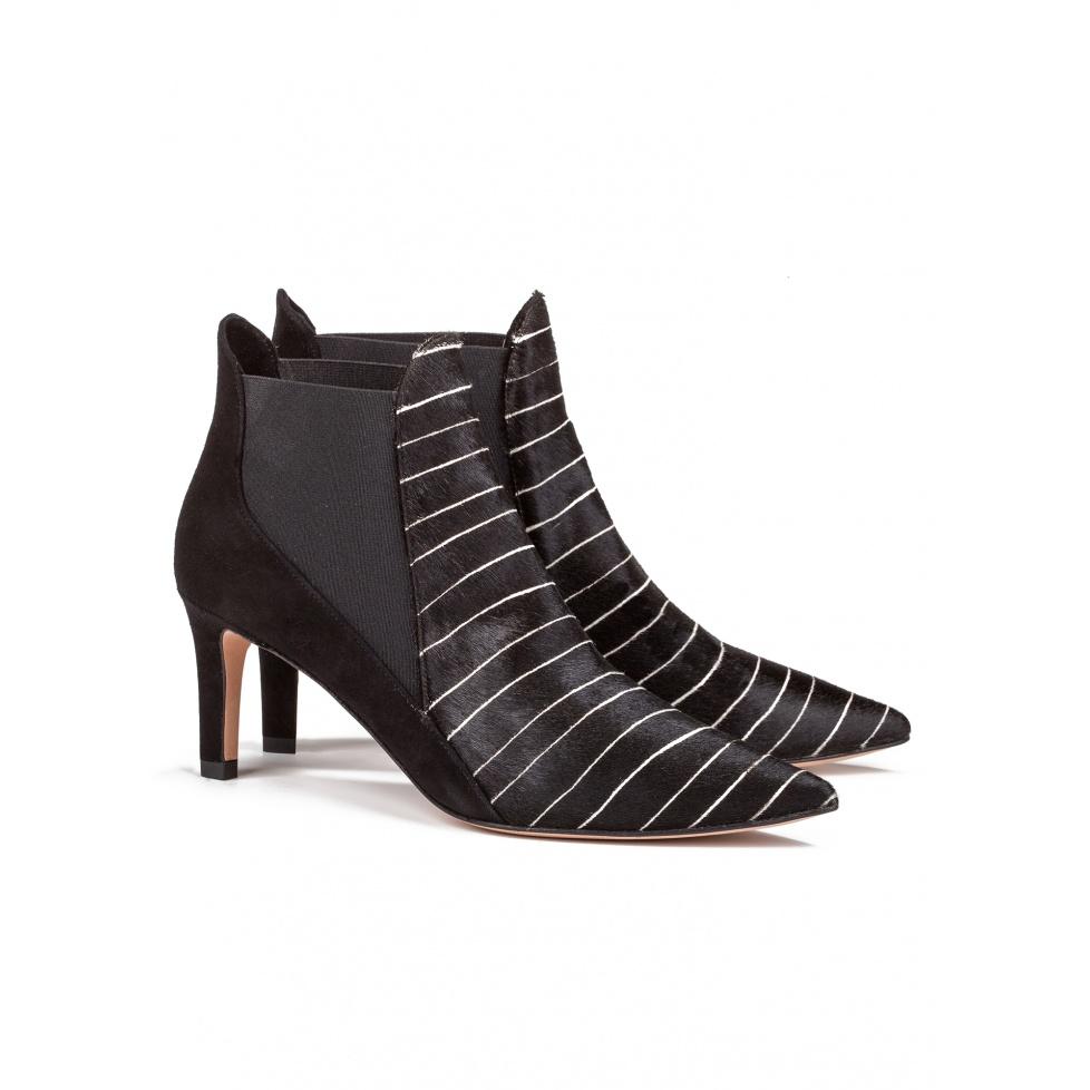 Botines negros de tacón medio-tienda de zapatos de mujer Pura López