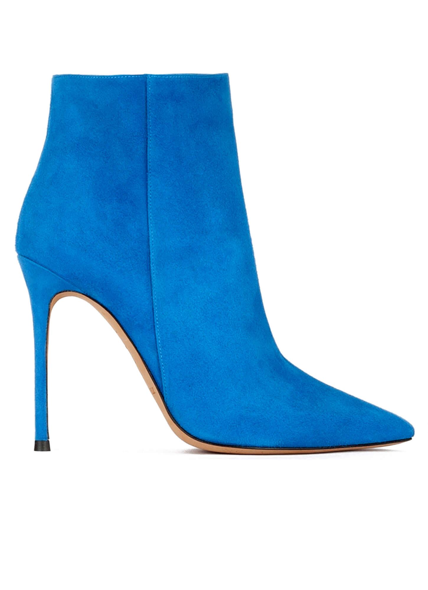Botas de punta azul klein