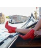 Red high heel ankle boots - online shoe store Pura Lopez