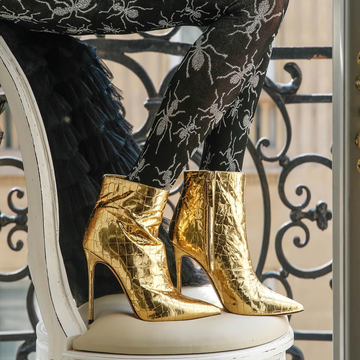 Pura Lopez High Heel Für Damen Gold Neueste Trends