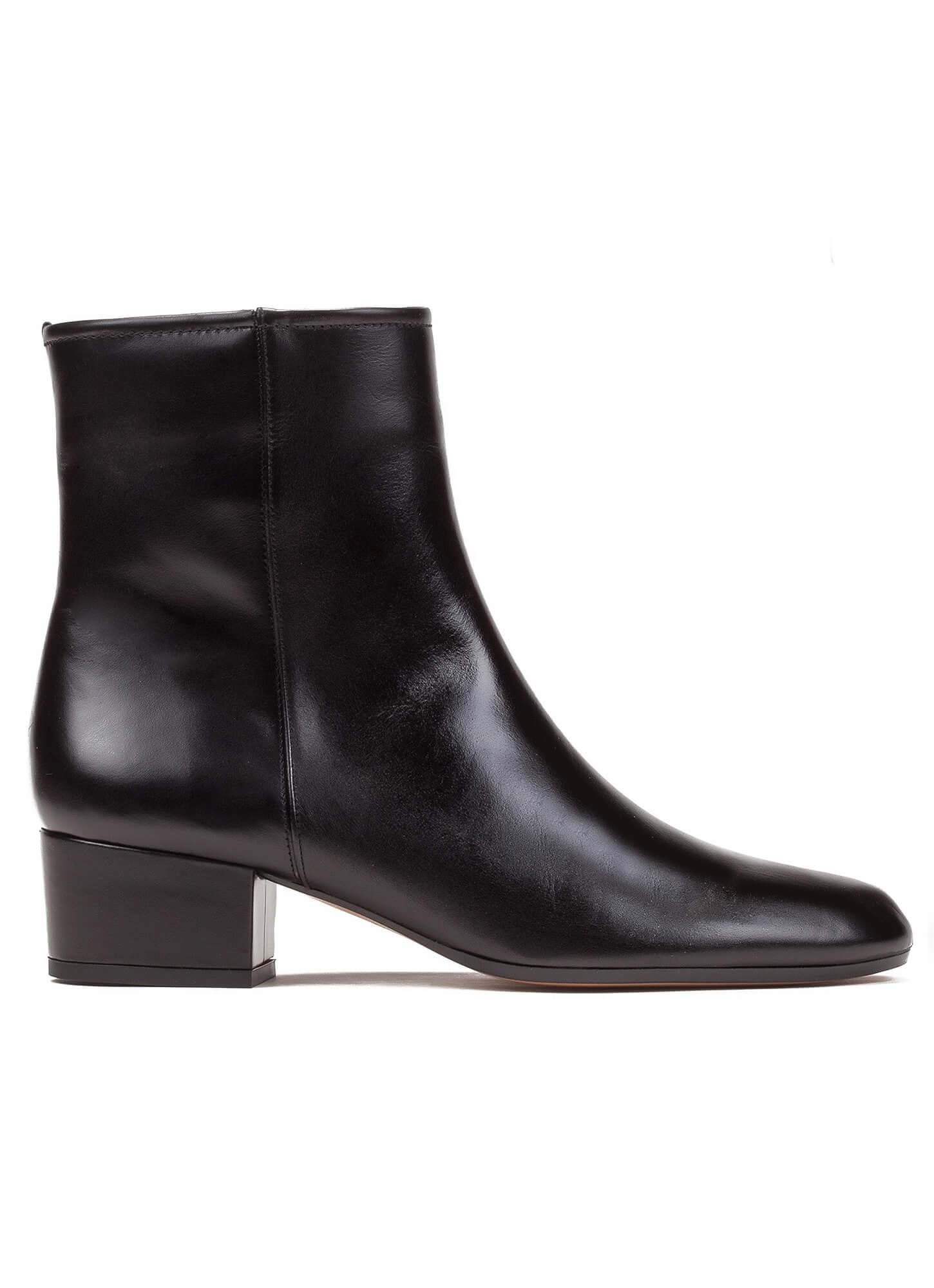 25e471f94922f Botines negros de tacón bajo - tienda de zapatos Pura López . PURA LOPEZ
