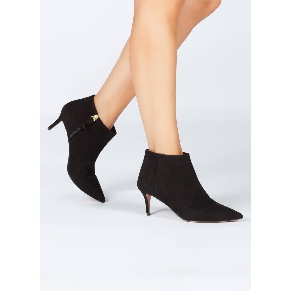 Black mid heel ankle boots - online shoe store Pura Lopez