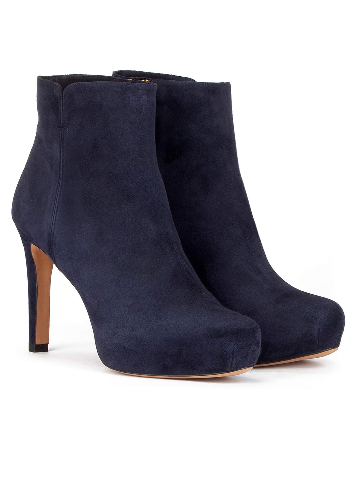 Platform Blau Leather Damen Stiefel Navy rdQshCt