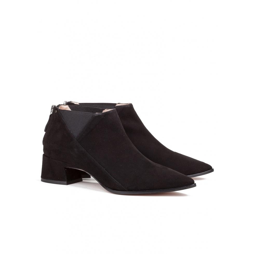 Zapatos abotinados de tacón medio - tienda de zapatos Pura López