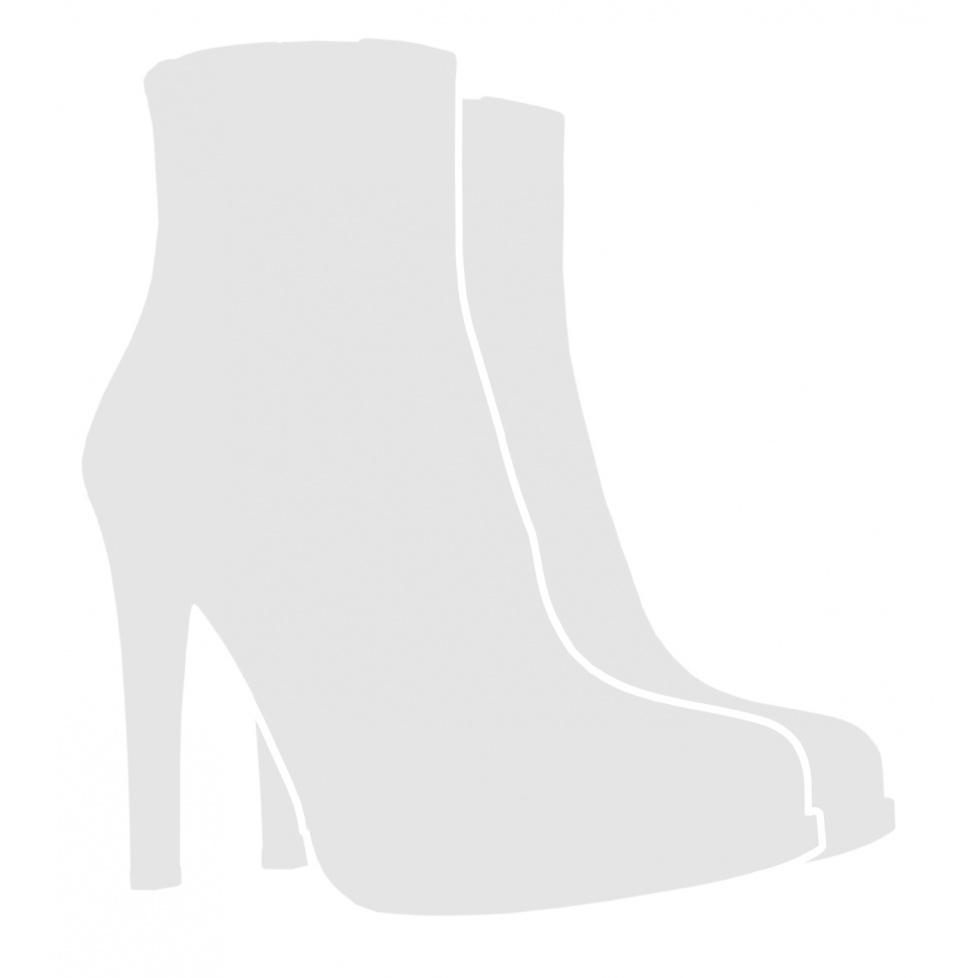 High block heel ankle boots in metallic mesh material