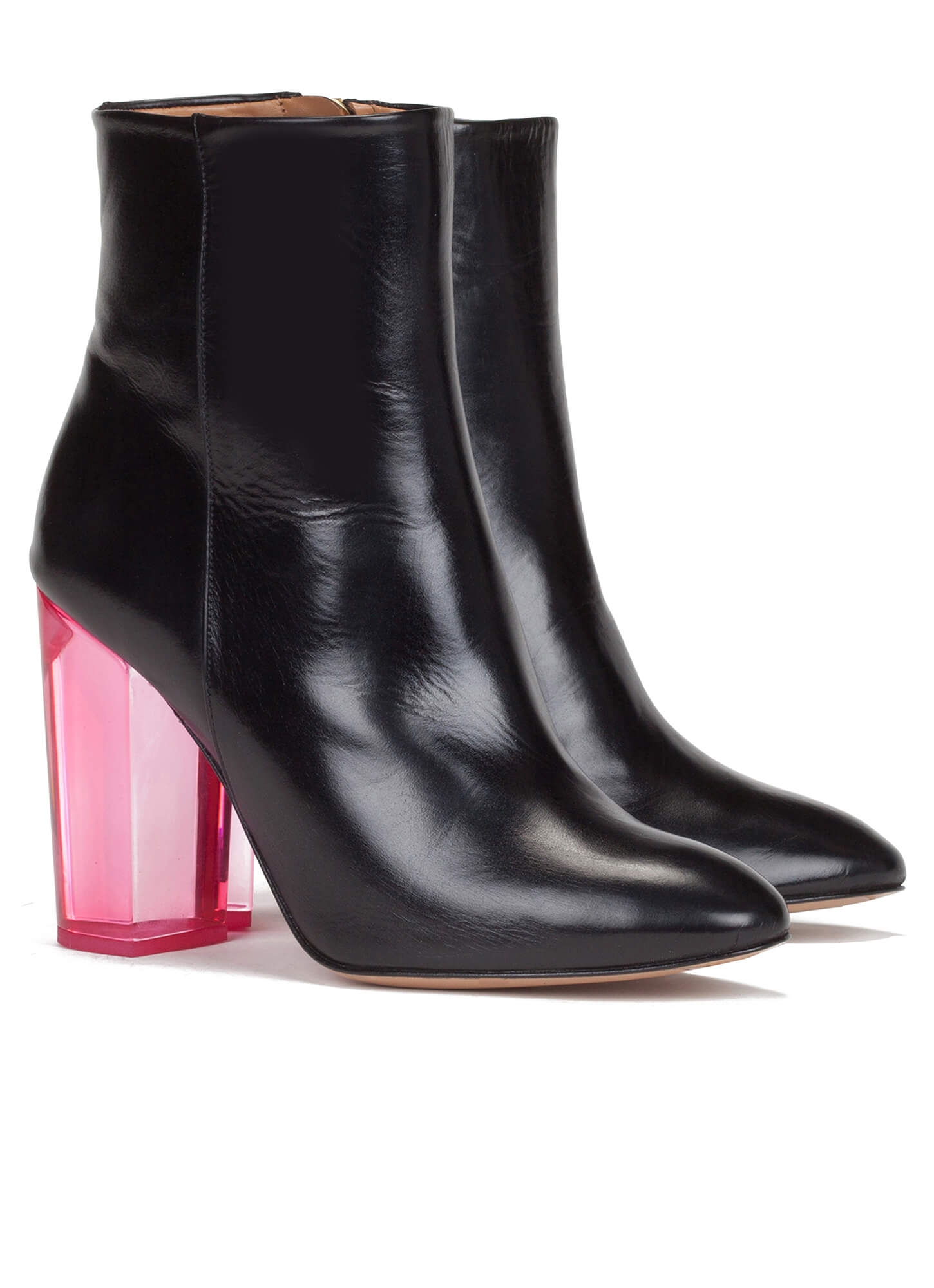 b9adbf6ea9431 Clear high block heel ankle boots - online shoe store Pura Lopez ...
