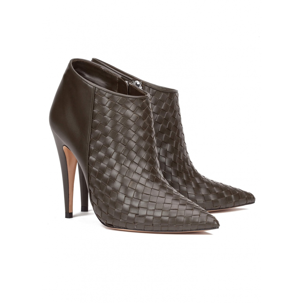 Green high heel ankle boots - online shoe store Pura Lopez