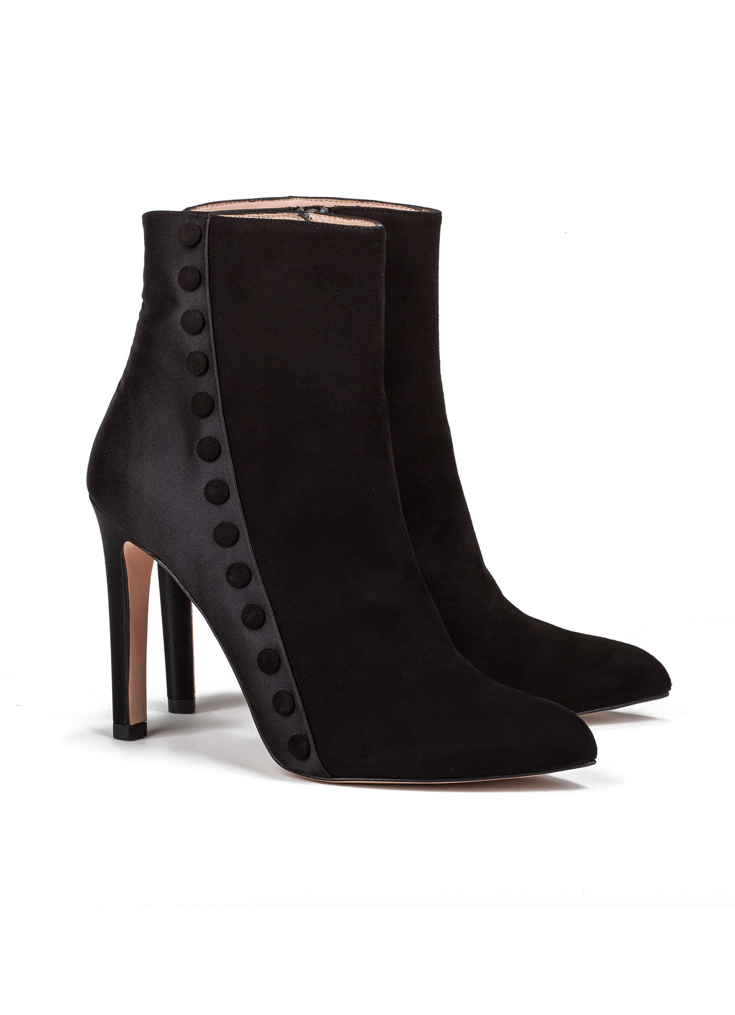 High heel ankle boots in black suede - online shoe store ...