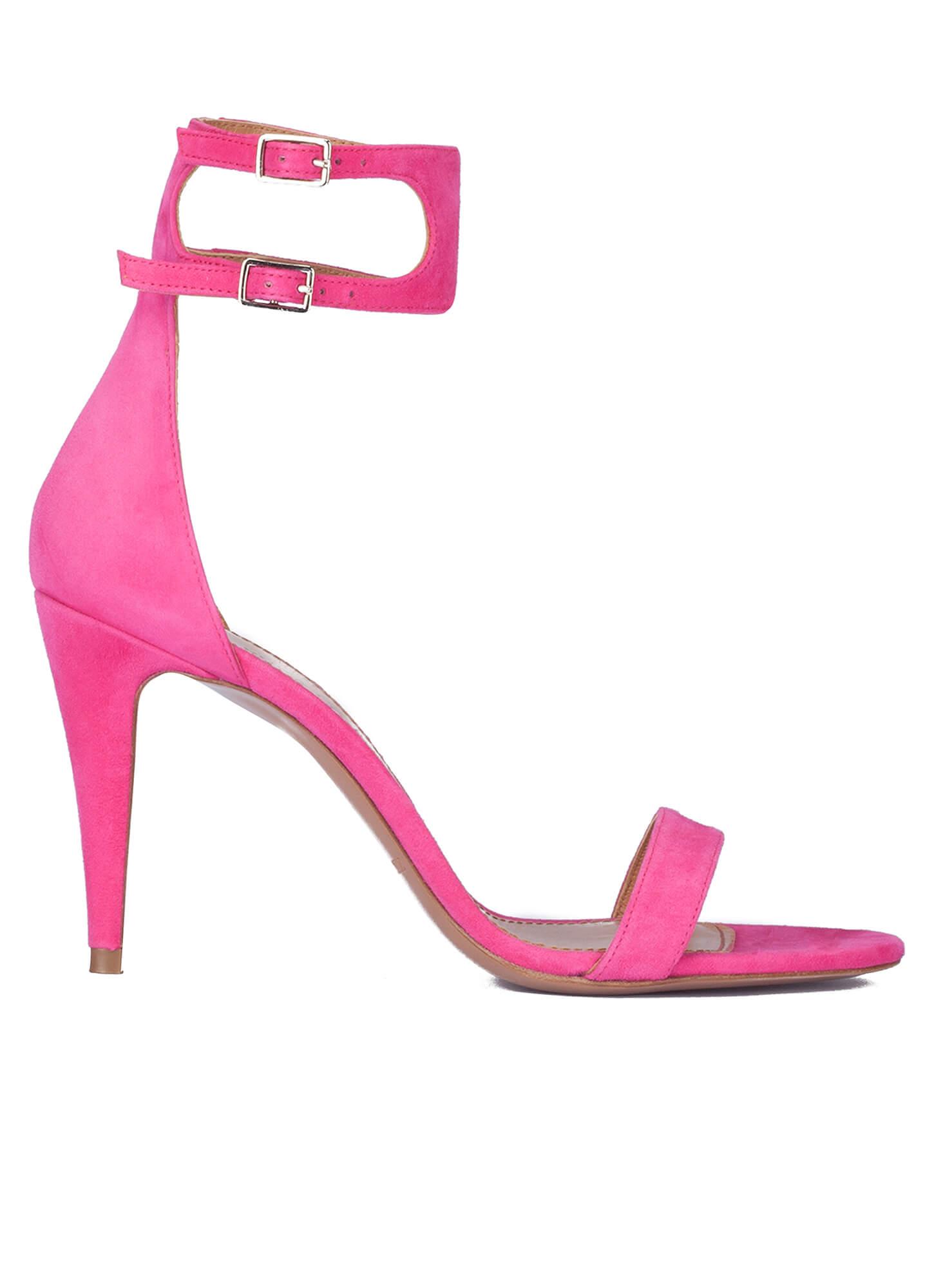 c1b62fa4b10a5 Sandalias fuxia de tacón alto - tienda de zapatos Pura López . PURA ...