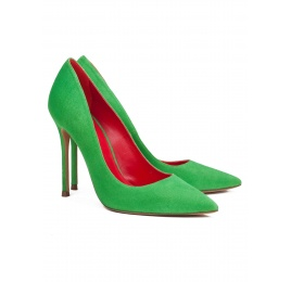 High heel pumps in green suede Pura López