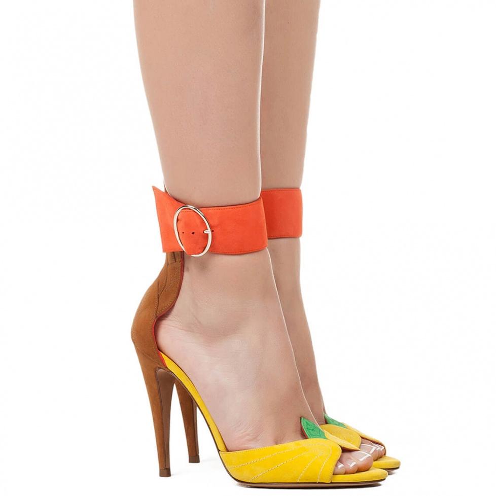 Ankle strap high heel sandals - online shoe store Pura Lopez