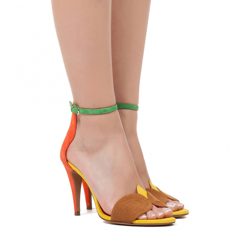 Ankle strap high heel sandals - online shoe store Pura Lopez