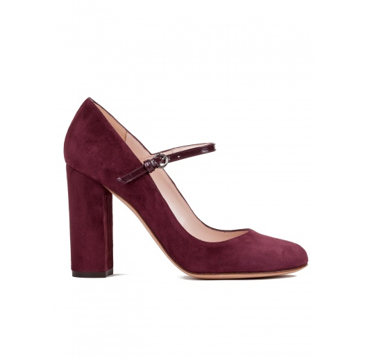 High heel shoes in burgundy suede Pura L�pez