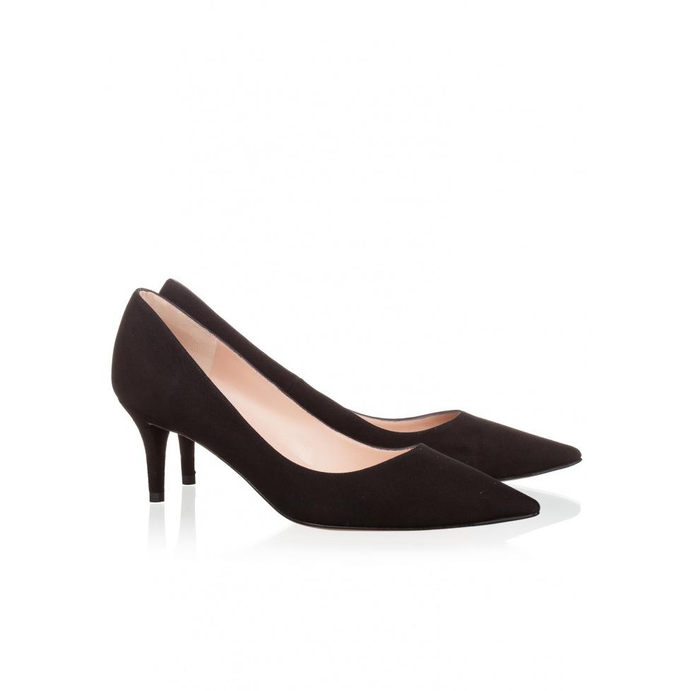 Zapato de salón negro de tacón medio - tienda de zapatos Pura López
