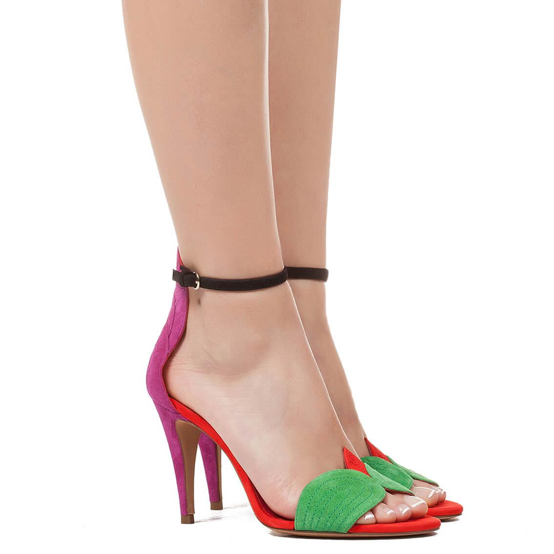 6a0a85da05f1 Ankle strap high heel sandals - online shoe store Pura Lopez . PURA ...