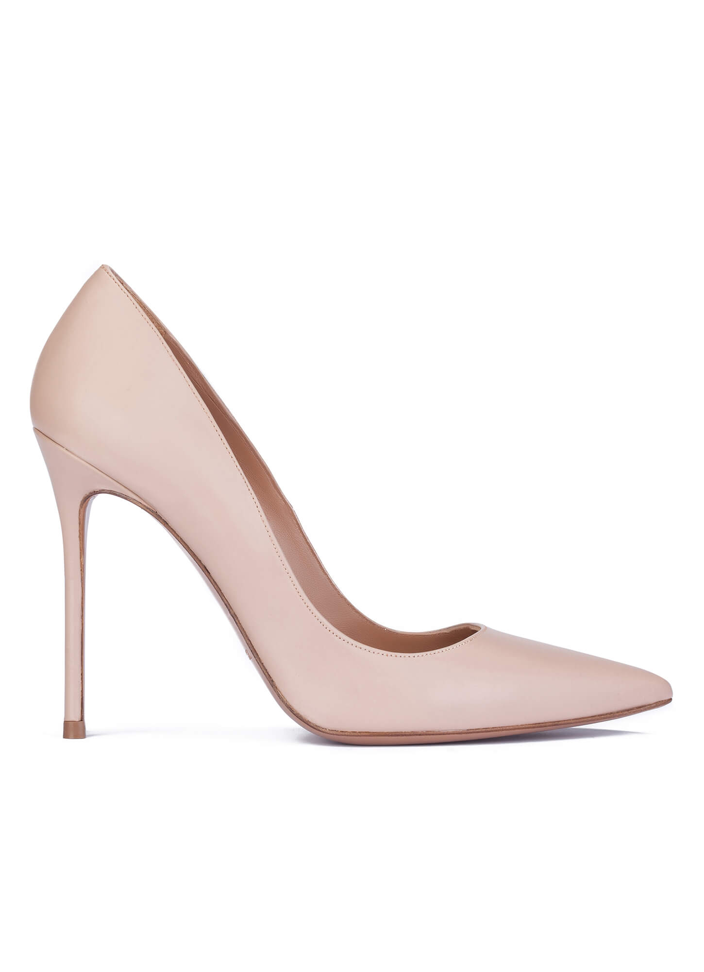 7a466ca62443 Heeled pumps in nude leather - online shoe store Pura Lopez . PURA LOPEZ