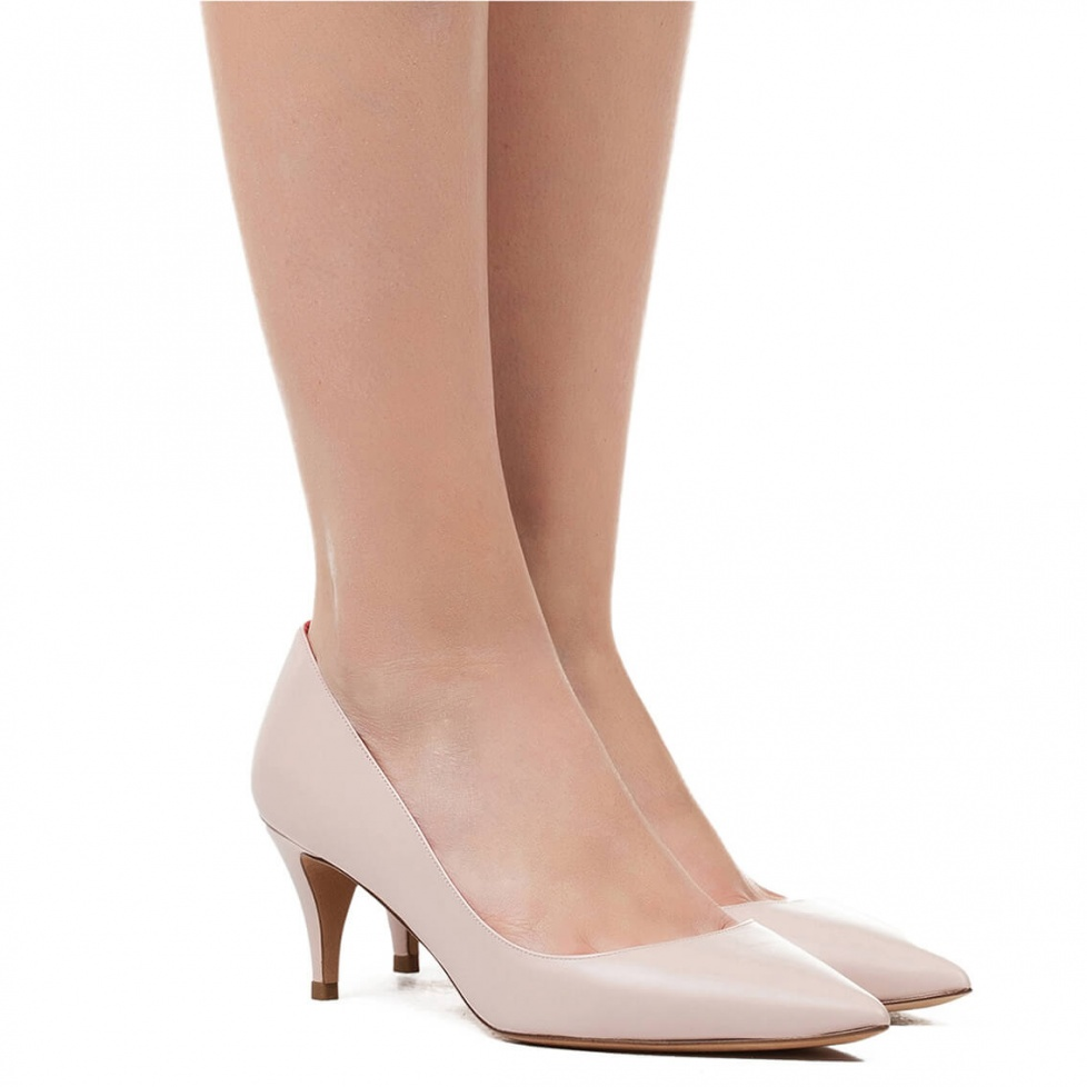 Zapatos de salón en piel nude - tienda de zapatos Pura López